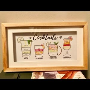 Cocktails Picture for Bar Cart